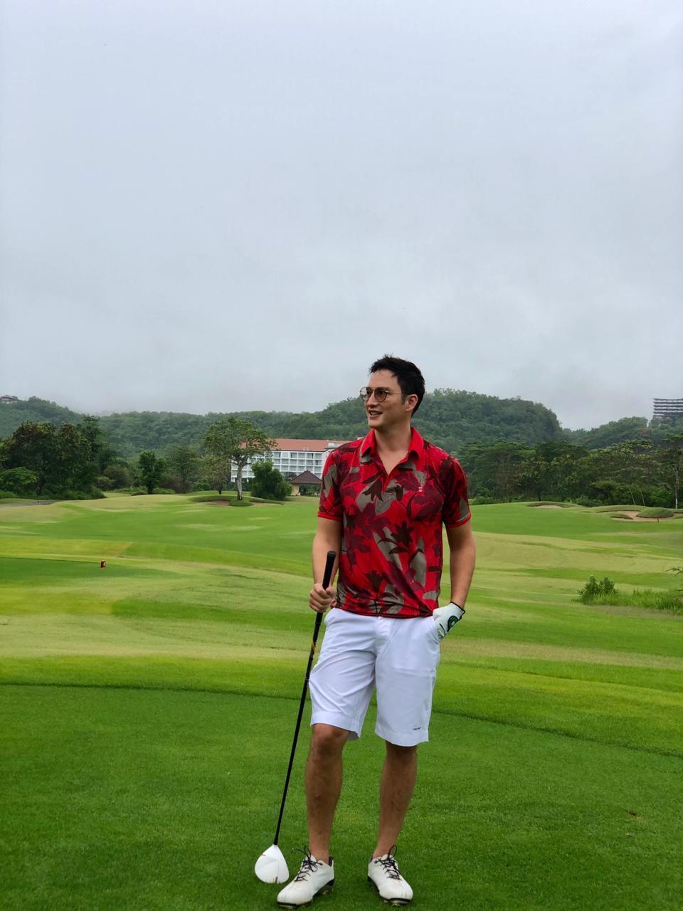 Men's Polo Red Camo