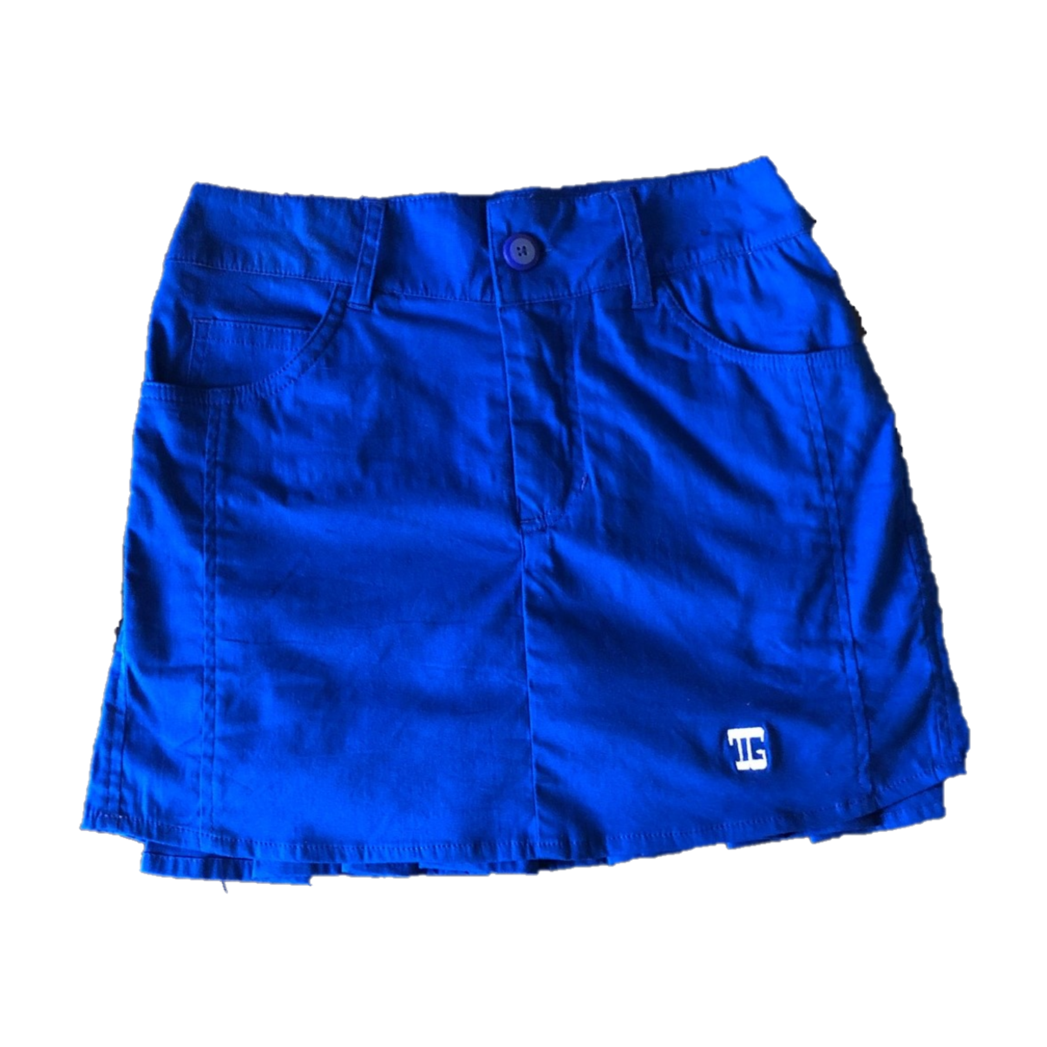 LS-044H     Skirt Royale Blue With 2 Stitchead Round Front Pocket & Pleated Rear Panel
